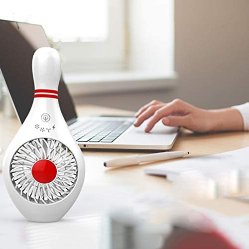 Adealink Bowling Mini Handheld Desktop Fan Portable Quiet USB Rechargeable Summer Cooling Fan for Home Office