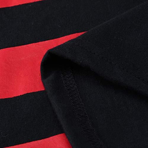 Chemisier Débardeur Été T shirt Sans Manches Euzeo Imprimé Rayé Coton Gilet Télé Nouveau Hommes Haut fitness Marine AfUwq7xF