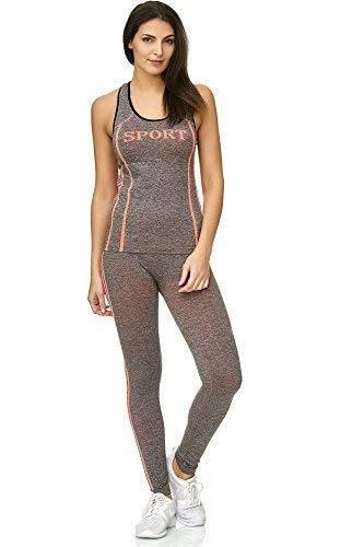 beybey Set 2 piezas Sportswear - Chándal para mujer leggings y TOP ...
