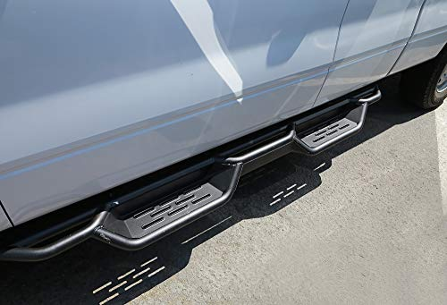 - APS Auto Black Drop Down Steps Nerf Bars Running Boards | 6