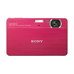 Sony Cybershot DSC-T700 10.1MP Digital Camera with 4x Optical Zoom with Super Steady Shot Image Stabilization (Red)