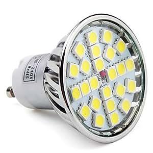 GU10 24-5050 SMD 3.5-4W 220-280LM 6000-6500K Natural White Light LED Spot Bulb (85-265V)
