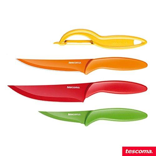 Tescoma antiadherente cuchillos y pelador presto tone ...
