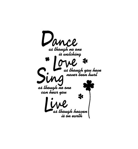 YJYdada Wall Stickers,Dance Live Sing Live Removable Art Vinyl Mural Home Room Decor Wall Stickers
