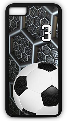 iPhone 8 Phone Case Soccer SC038Z by TYD Designs in Black Rubber Choose Your Own Or Player Jersey Number 3