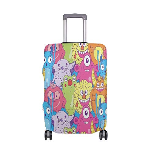 (Suitcase Cover Suitcase Monster Seamless Pattern Ocean Luggage Cover Travel Case Bag Protector for Kid Girls Luggage Cover Travel Case Bag Protector for Kid Girls 18