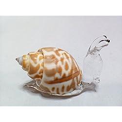 Handmade Snail Art Glass Blown Reptiles Animal Figurine (Copter Shop)