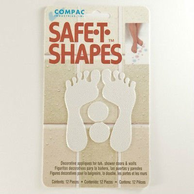 UPC 786919933638, Safe-t-shapes White Feet Safety Applique - Bath Tub Shower Sticker Decal No Slip