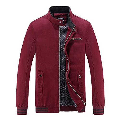 (PASATO New Men Winter Warm Jacket Overcoat Outwear Slim Long Trench Zipper Coat Tops Blouse Clearance Sale!(Wine,XL=US:L))