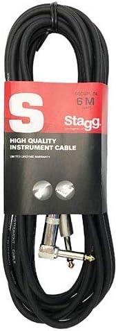 10m Stagg SGC10PL DL C/âble Guitare Jack 6.3mm coud/é