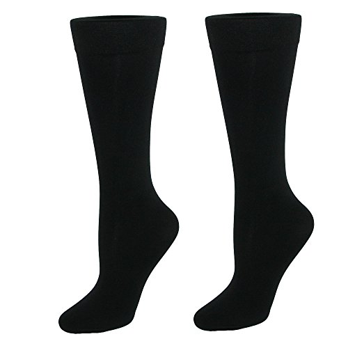 - Gold Toe Women's Little Black Microfiber Trouser Socks, 2 Pairs, Shoe Size: 6-9
