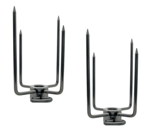 OneGrill Stainless Steel Grill Rotisserie Spit Rod Forks (Fits: 5/8