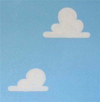 Diseño de nubes de sonal de la habitación en juego de plantillas de su uso en