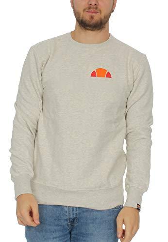 ellesse Sweater Herren Donatella Crew Sweat Grau Oatmeal Marl