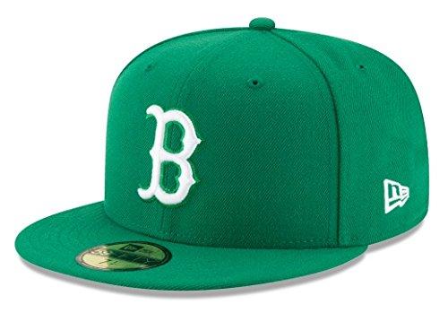 New Era Mens MLB Basic Boston Red Sox 59fifty Fitted Cap, Kelly Green, 7 - Green Sox Kelly