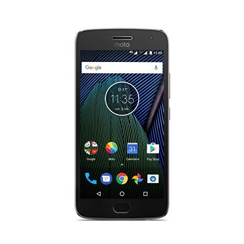 Moto G 5ª Generación Plus - Smartphone libre Android 7 (pantalla de 5.2'' Full HD, 4 G, cámara de 12 MP Dual Pixel, 3 GB de RAM, 32 GB, Qualcomm Snapdragon 2.0 GHz), color gris: Motorola
