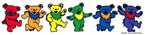Grateful Dead Jerry Bears Dancing on Clear Background - Transparent Sticker / - Hippie Transparent