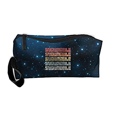Retro Snowmobile Cool Multi-functional Cosmetic Makeup Bag Zipper Closure Bags Toiletries Organizer Bag