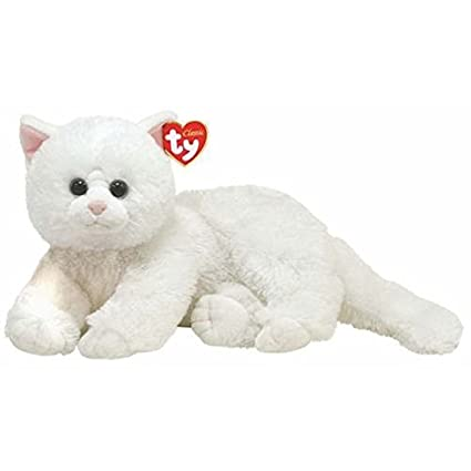 7ca7599229 Amazon.com  TY Classic - Crystal - White Cat  Toys   Games