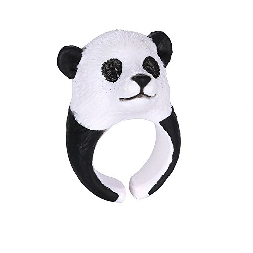 [Winter's Secret Panda Pattern Lovely Three-dimensional Small Animal Ring Middle Thumb Finger] (Color Guard Costumes Rental)