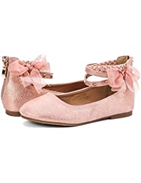 Girl's Princess Dress Shoes Ankle Strap Glitter Ballet...