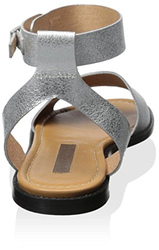 Women's Flat Modern Rita Sandal Silver Vintage q1UnZwxP7