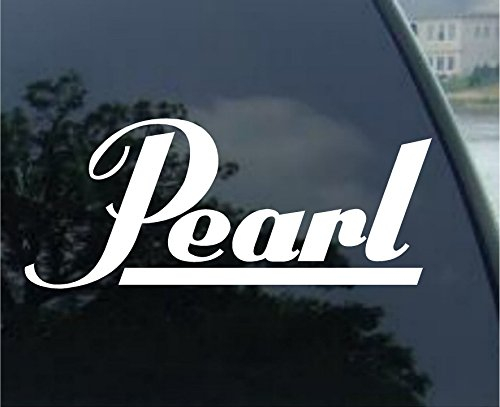 - Pearl Drums - Car, Truck, Notebook, Vinyl Decal Sticker #2732 | Vinyl Color: White