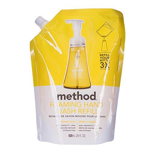 (Method Foaming Hand Wash Refill, Lemon Mint, 28 Fluid Ounce)