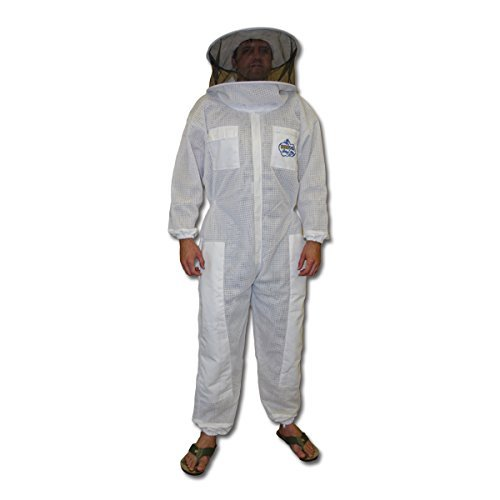 BeeKool Ventilated Beekeeper Full Suit (Round Veil) for Beekeeping & Protection from Bees (3XL)