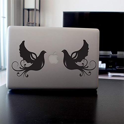 CELYCASY Doves Decal Set - Sticker - Laptop, Car, Window, Wall (Set Decal Dove)