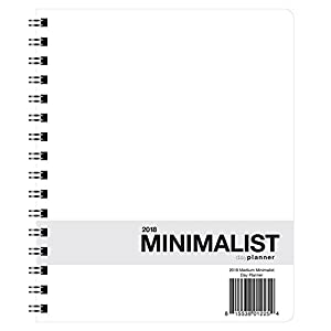 Action Publishing 2018 Medium Minimalist Planner (7 x 8.5 inches) - 12 Monthly Calendar Overview, To-do Lists, Weekly and Daily Planning
