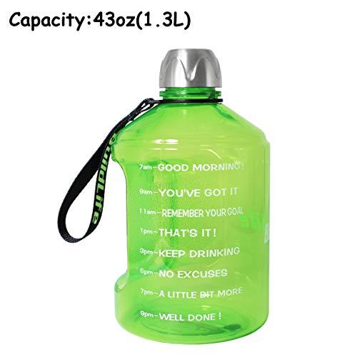 [해외]QuiFit 갤런 물 병 재사용 가능한 누설 방지 음료수 가변 야외 캠핑 하이킹 BPA 자유로운 플라스틱 스포츠 병 / Quifit 1 gallon Water bottle reusable leak proof drinking water jug outdoor camping hiking BPA free plastic sports bottle