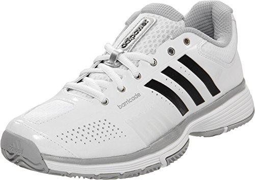 - adidas Adipower Barricade 7.0 Women's Tennis Shoe - White/Black/Metallic Silver (10)