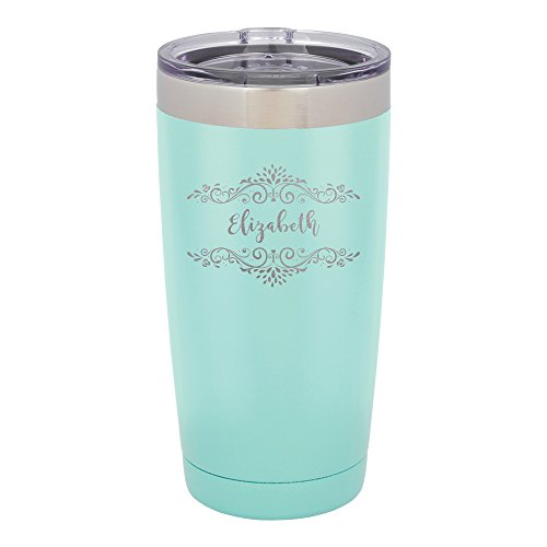 Froolu Thermal Water Bottle - Mint Personalized Laser Engraved Tumbler - Hydro Travel Cup Flask