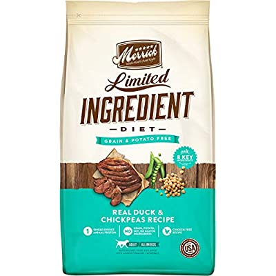Merrick Limited Ingredient Diet Grain-Free Duck and Chickpea Adult Dog Food 12 lbs.