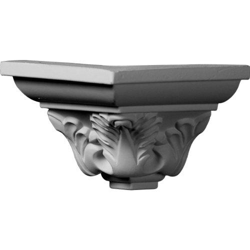 Ekena Millwork MOC03X03LE  3 1/2-Inch P x 3 1/8-Inch H Outside Corner for Molding (Installing Crown Molding Inside Corner)