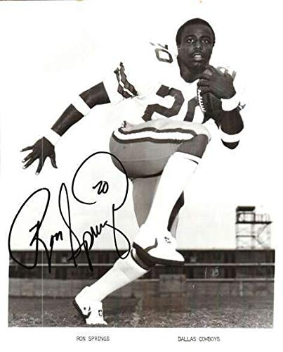 Autographed Signed Ron Springs 8x10 Dallas Cowboys Photo - Certified Authentic