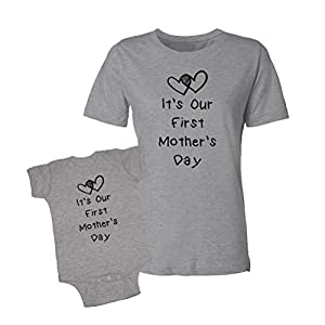 It's Our First Mother's Day Infant Bodysuit & T-Shirt Matching Set