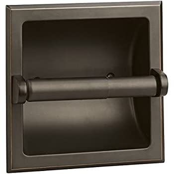 Amazon Com Brushed Nickel Recessed Toilet Paper Holder