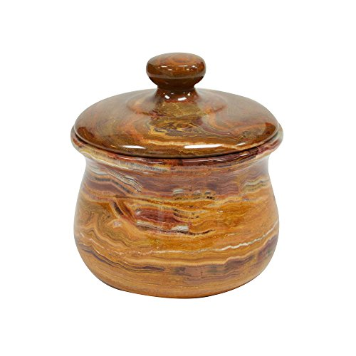Polished Marble Jar, Amber Shower and Bathroom Accessory