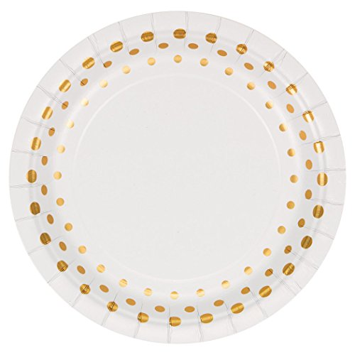 Creative Converting 317840 Sparkle and Shine Gold Dessert Plates, 7