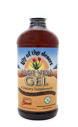 Lily Of The Desert Aloe Vera Gel, Supports Healthy Digestion and Promotes Healthy Joints (Inner Fillet, 16oz) (Lily Of The Desert Aloe Vera Gel Ingredients)