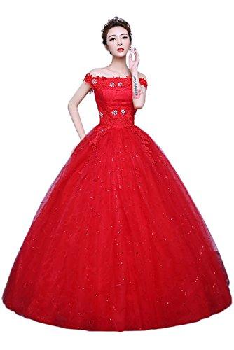 Steine Abendkleider Stil Ivydressing Romantisch D Brautkleider Lang Hochzeitskleider Aq1nn7xpEU
