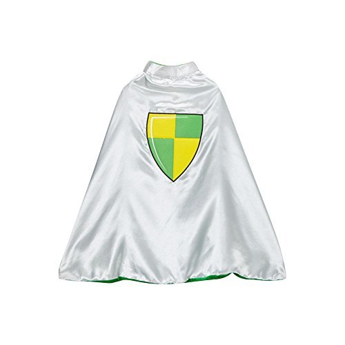 Medieval Dragon Knight Costumes Child (Silver & Green Knight & Dragon Reversible)