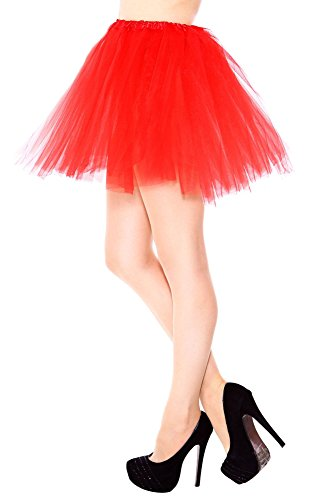 Adult Women's 3 Layers Tulle Tutu Skirt,