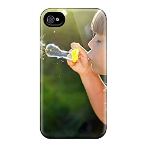 Premium People Children Girl And Bubbles Back Covers Snap On Cases For Iphone 6