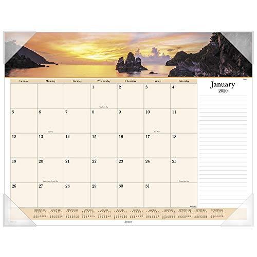 AT-A-GLANCE 2020 Desk Calendar, Desk Pad, 21-3/4