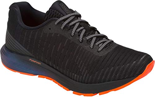 ASICS Mens Dynaflyte 3 Lite-Show Running Shoes, Black/Shocking Orange, Size 11