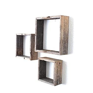 BarnwoodUSA Rustic Reclaimed Wood Shelves Open Box