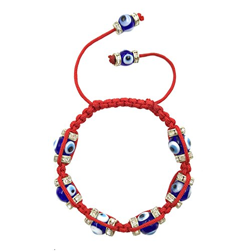 Nazar Evil Eye (Classic Braided Red String Evil Eye Macrame Bracelet for Women Kabbalah Jewelry for Protection and Good Luck)
